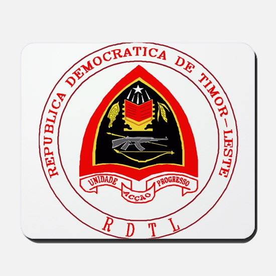 Timor Leste Coat of Arms Mousepad