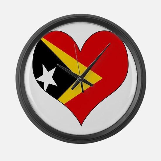 I Love Timor Leste Large Wall Clock