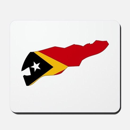 Timor Leste Flag Map Mousepad