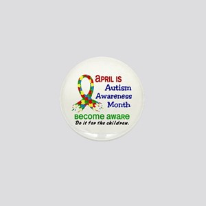 Autism Awareness Month Mini Button