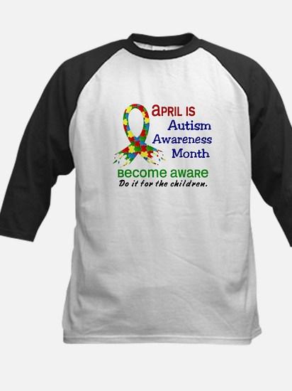 Autism Awareness Month Kids Baseball Jersey