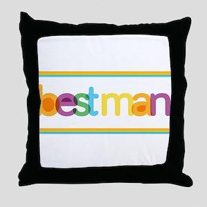 Funky Type Best Man Throw Pillow