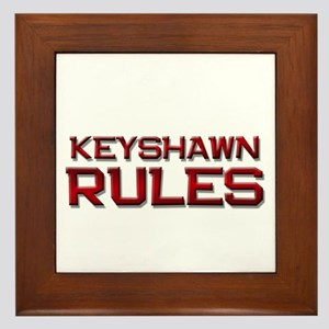 keyshawn rules Framed Tile