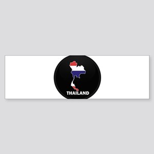 Flag Map of Thailand Bumper Sticker
