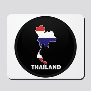 Flag Map of Thailand Mousepad