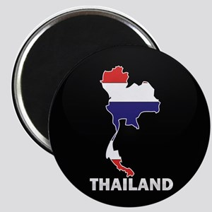 Flag Map of Thailand Magnet