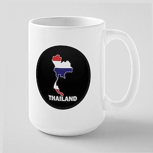Flag Map of Thailand Large Mug