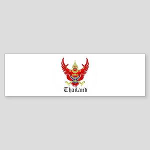 Thai Coat of Arms Seal Bumper Sticker