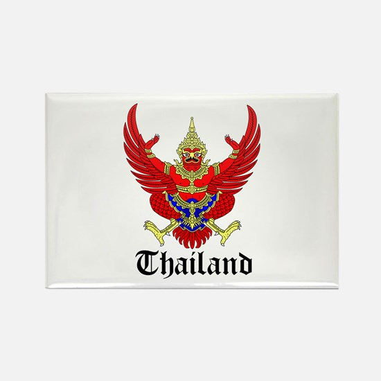Thai Coat of Arms Seal Rectangle Magnet