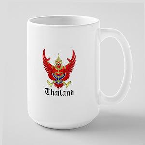 Thai Coat of Arms Seal Large Mug