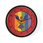 Bird in Flight Rainbow Wall Clocks