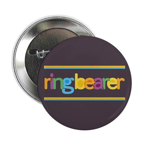 """Funky Type Ring Bearer 2.25"""" Button (10 pack)"""