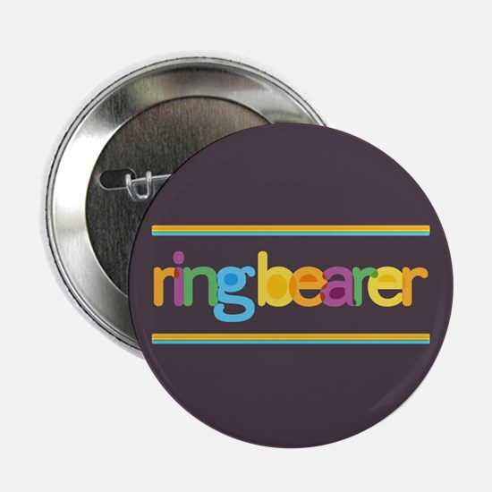 "Funky Type Ring Bearer 2.25"" Button"