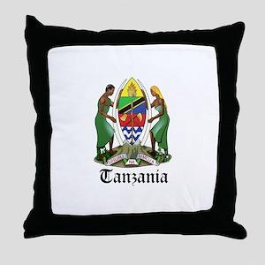 Tanzanian Coat of Arms Seal Throw Pillow