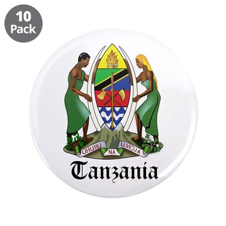"Tanzanian Coat of Arms Seal 3.5"" Button (10 pack)"