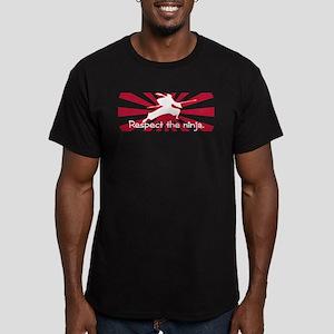 Ninja Respect (Sun) Men's Fitted T-Shirt (dark)