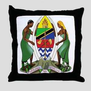 Tanzania Coat of Arms Throw Pillow