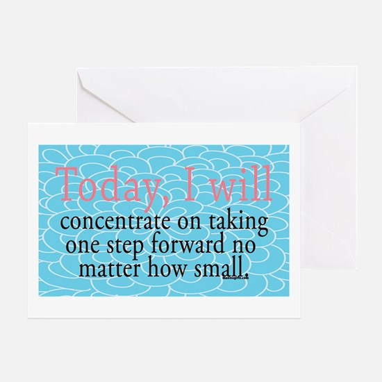 One Step Forward Encouragement Greeting Card
