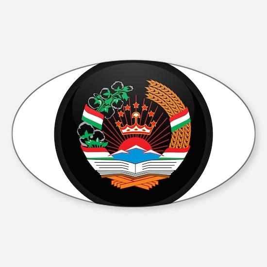 Coat of Arms of Tajikistan Oval Decal