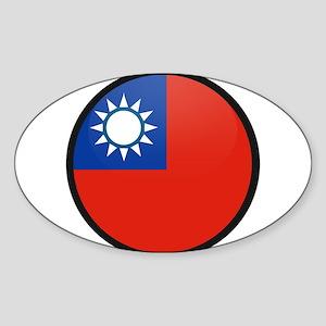 taiwan Oval Sticker