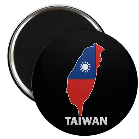 Flag Map of taiwan Magnet