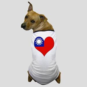 I Love taiwan Dog T-Shirt