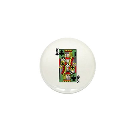 King Of Clubs Mini Button (10 pack)