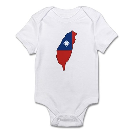 taiwan Flag Map Infant Bodysuit
