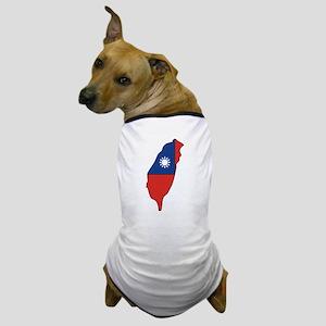 taiwan Flag Map Dog T-Shirt