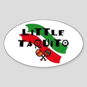 Little Taquito Oval Sticker
