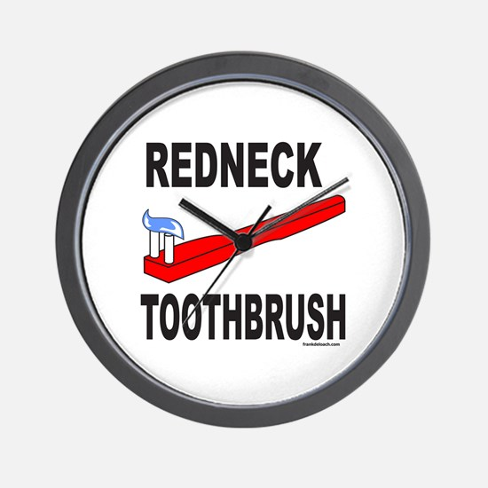 REDNECK TOOTHBRUSH Wall Clock