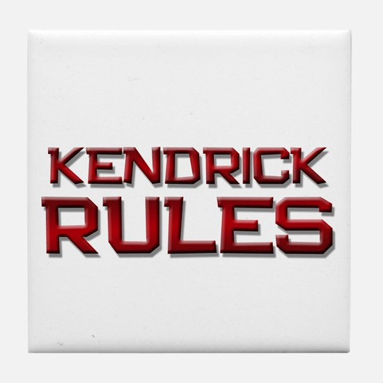kendrick rules Tile Coaster