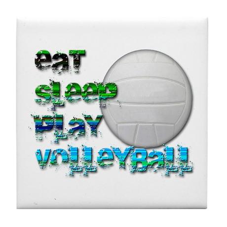 Eat sleep volley 2 Tile Coaster