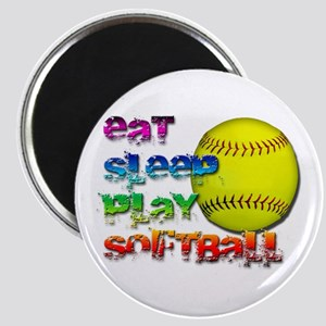 "Eat sleep soft 2 2.25"" Magnet (10 pack)"