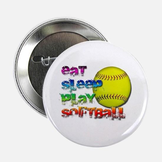 """Eat sleep soft 2 2.25"""" Button (10 pack)"""