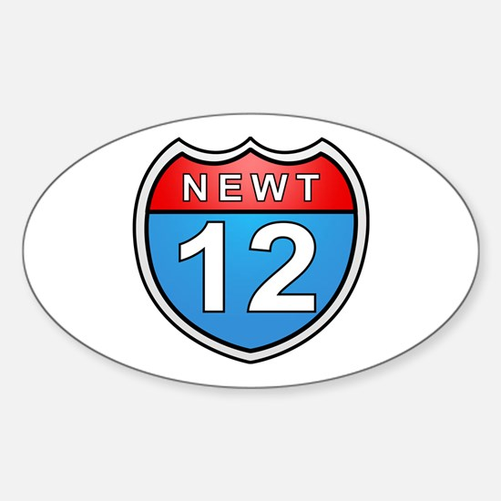 Newt Gingrich 2012 Oval Decal
