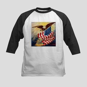 """Eagle with Flag"" Kids Baseball Jersey"