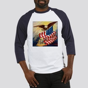 """""""Eagle with Flag"""" Baseball Jersey"""