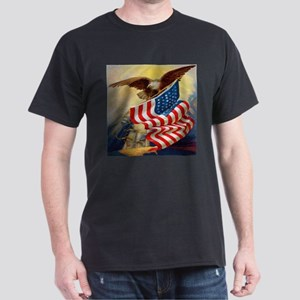 """Eagle with Flag"" Dark T-Shirt"