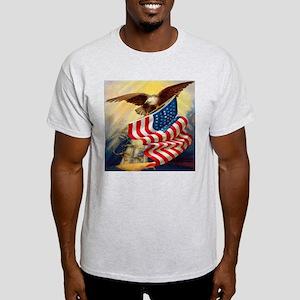 """Eagle with Flag"" Light T-Shirt"
