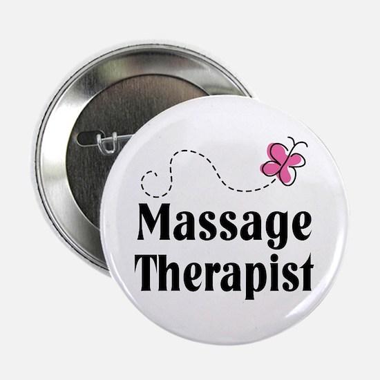 """Pretty Massage Therapist 2.25"""" Button"""