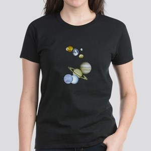 Our Solar System Women's Dark T-Shirt