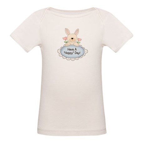 Hoppy Day Bunny Easter Organic Baby T-Shirt