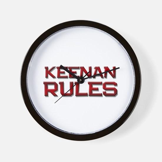 keenan rules Wall Clock