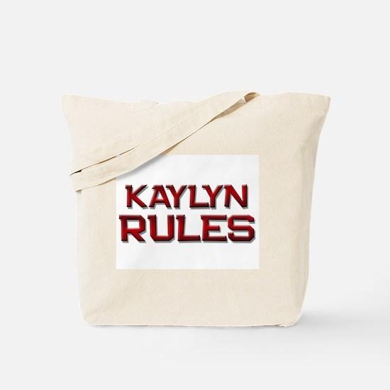 kaylyn rules Tote Bag