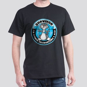 Scleroderma Boxing Cat Dark T-Shirt
