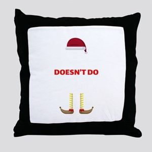 Elf Christmas Party Funny Innuendo Wh Throw Pillow