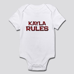 kayla rules Infant Bodysuit