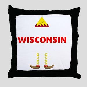 Wisconsin Elf Mom Christmas Sports Pr Throw Pillow