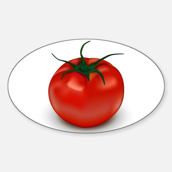Red Tomato ! Oval Decal
